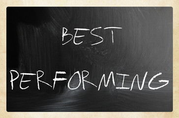 Marketing concept - text handwritten on a blackboard