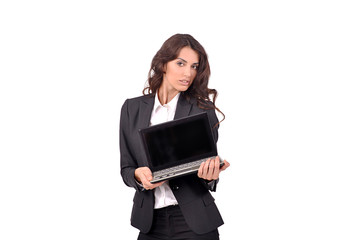 Wall Mural - девушка с ноутбуком