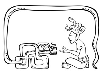 Fakir, vector illustration in maya style