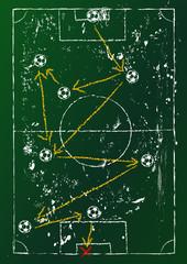 soccer tactics diagram,grungy