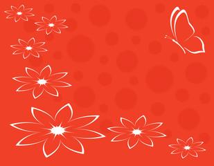 sfondo farfalla con fiori