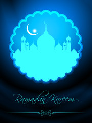 abstract beautiful eid background with mosque.