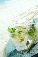 Ice cold mojito cocktail