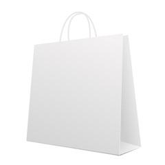 Empty Shopping Bag on white. Vector