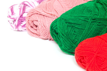 Different color silk threads