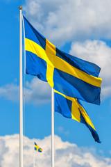 Three Swedish flags