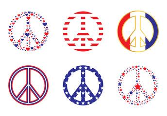 Patriotic Peace Signs