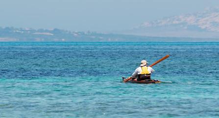 canoeist in Sardinia