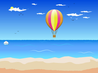 sea and the balloon