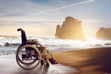 Wheelchair at the Beach