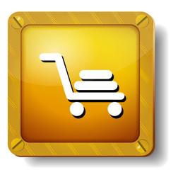 golden shopping cart icon