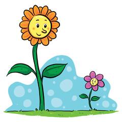 Flower Friends. A friendship between flowers.