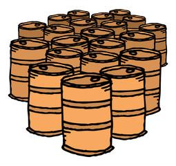 Oil drum / Bunch of barrels
