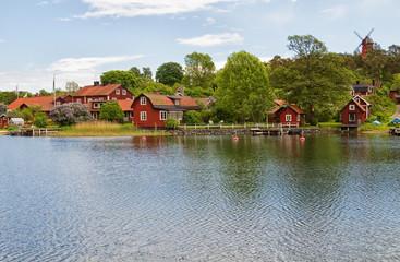 Fishing village in Stockholm archipelago.