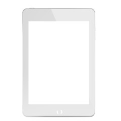 White generic computer tablet