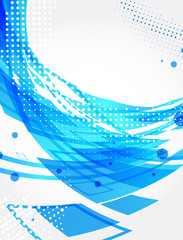 Abstract blue background. Halftone theme. Vector
