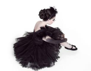 Ballerina. Fashion Art Portrait Of Beautiful Girl. Vogue Style W