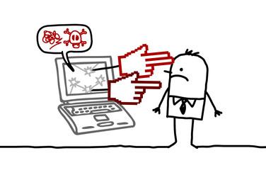 man & cyberbullying