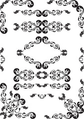 Baroque design set