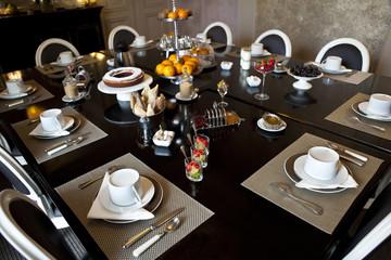Petit déjeuner, brunch, lunch, breakfast, hôtel, table, repas