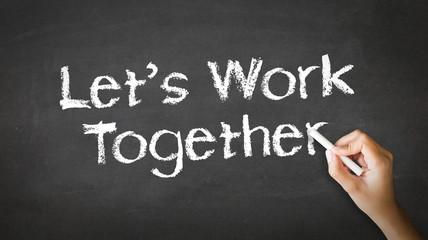 Let's Work Together Chalk Illustration