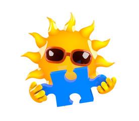 Sunshine solves the puzzle