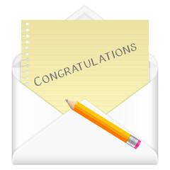 envelope congratulations