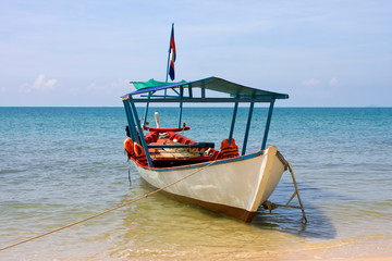 Boat on the sea in Cambodia