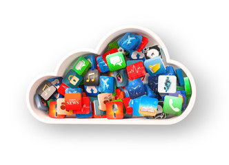 cloud symbol and apps