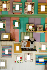 Wall hanging picture frames