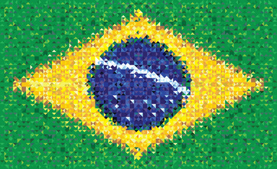 Brazil flag, vector texture of Brasil