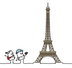 tourists & Eiffel