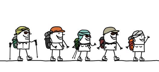 hikers & desert