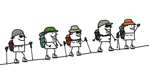 hikers & mountain
