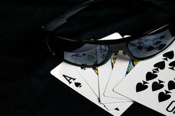 Playing Cards and glasses