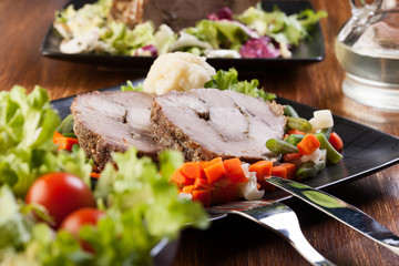 Pork roast with vegetable