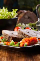 Pork roast with vegetable