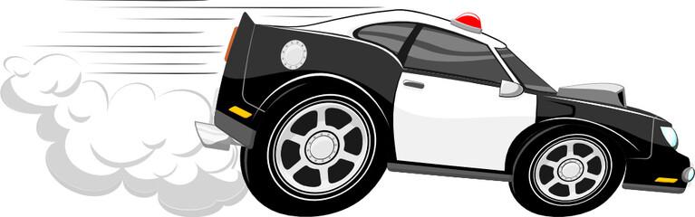 Garden Poster Cartoon cars fast police car cartoon