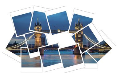 Tower bridge  polaroid