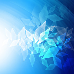 Trapezoid abstract background