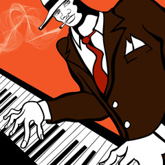 Jazz piano player