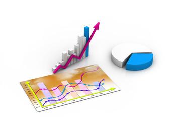 Business graph. chart, diagram, bar