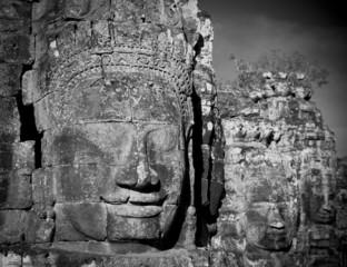 Wall Mural - Faces of Bayon temple, Angkor, Cambodia