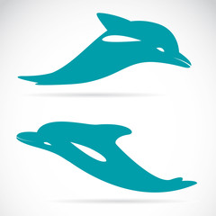 Photo sur Aluminium Dauphins Vector image of an dolphin on white background