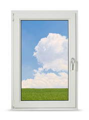pvc window with clipping path
