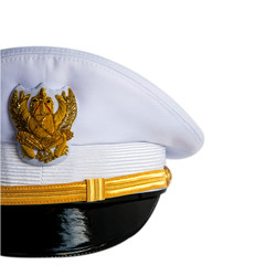 The front cap of Thailand goverment officer , on a white backgro