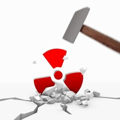 Illustration of a strong discount icon smashed with a hammer
