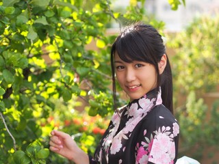 Pretty kimono girl