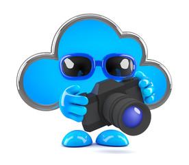 Cloud takes a photo