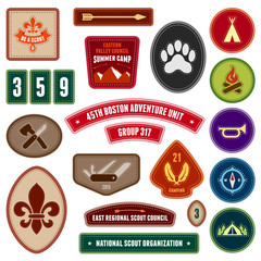 Girl Scout Badges photos, royalty-free images, graphics